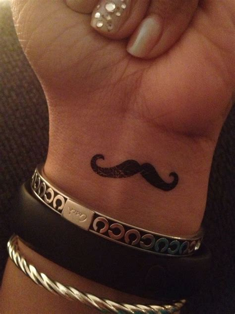 finger mustache tattoo black mustache on finger by shak c