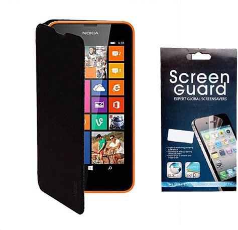 Screen Guard Ruby Nokia 630 koloredge flip cover and screen guard for nokia lumia 630 combo set price in india buy