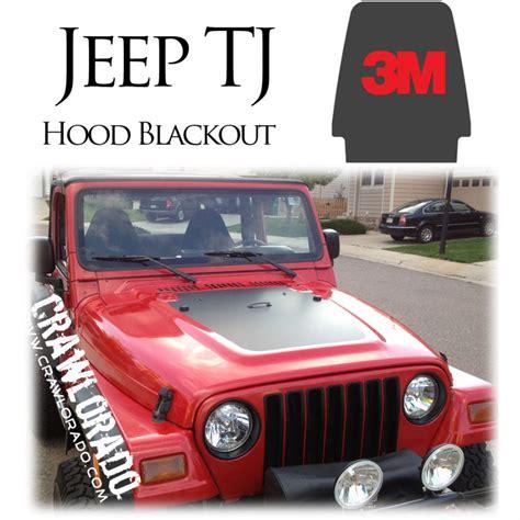 blackout jeep wrangler jeep tj hood blackout