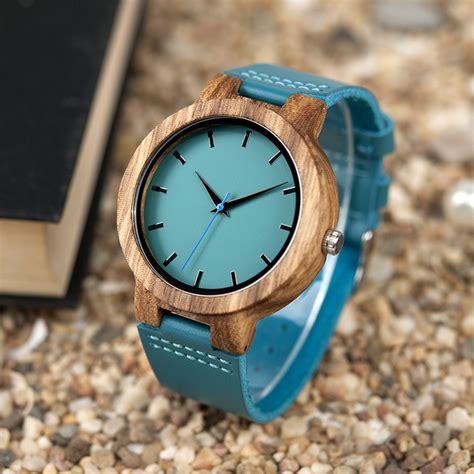 Jam Tangan Bobo Bird Le bobo bird jam tangan kayu pria wc28 blue