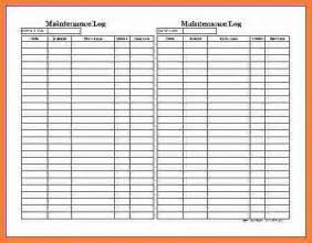 9 equipment maintenance log marital settlements information