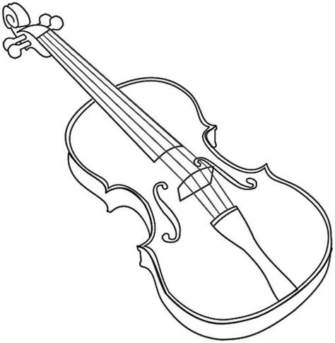 printable coloring pages musical instruments violin coloring page education resources