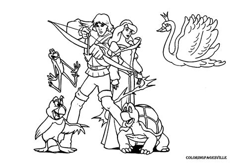 the swan princess coloring pages