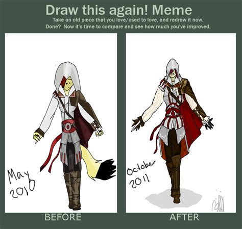 Assasins Creed Memes - assassin s creed redraw meme by raven the foxx on deviantart