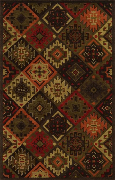 Lodge Area Rug Rizzy Rugs Southwest Southwestern Lodge Area Rug Collection Rugpal Su8761 4200