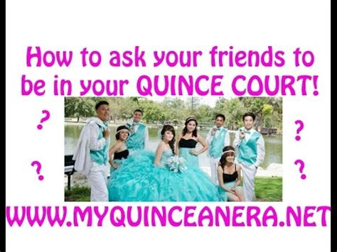 how to ask to be my diy quinceanera court invites how to ask your quince