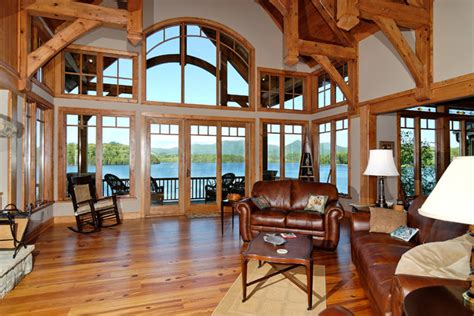 luxury lake house plans luxury lake retreat architectural designs house plan 26600gg rustic living room