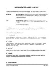 commission based employment contract template amendment to sales contract template sle form