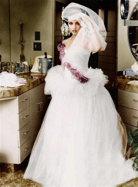 amomadonna: Madonna wearing her wedding dress 16th August