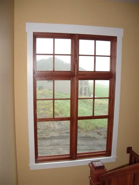 White Windows Wood Trim Decor with Wood Window White Trim For The Home Pinterest Window
