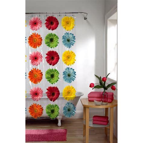 gerbera daisy shower curtain maytex gerbera daisy peva shower curtain 2 day shipping