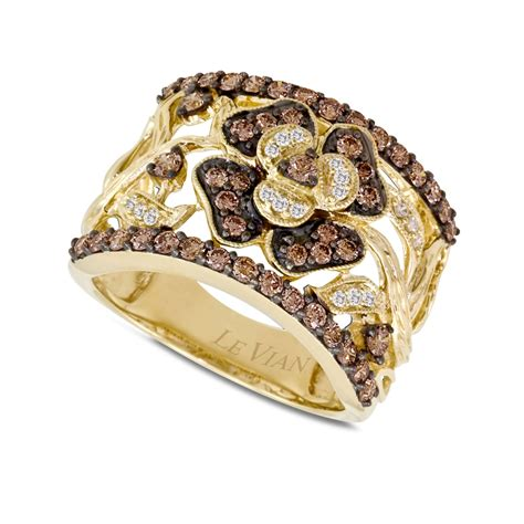 le gold le vian chocolate flower 1 ct t w in 14k gold
