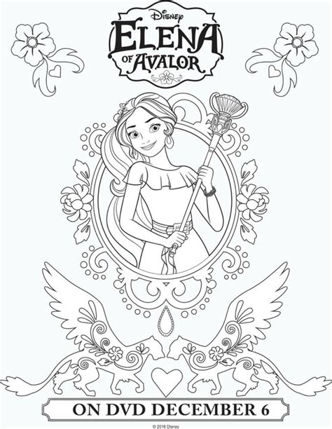 printable coloring pages elena of avalor disney elena of avalor printable coloring page mama