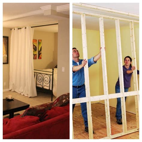 bedroom wall dividers hanging room divider kits roommate divider and bedrooms