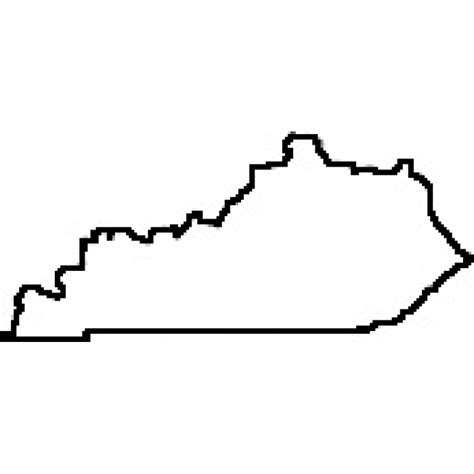 kentucky map outline state of kentucky outline map rubber st