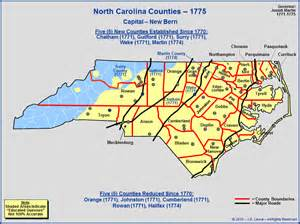 colonial map of carolina the royal colony of carolina counties as of 1775