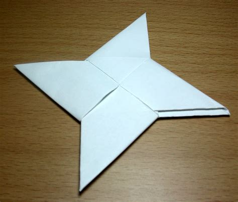 How To Make An Origami Shuriken -