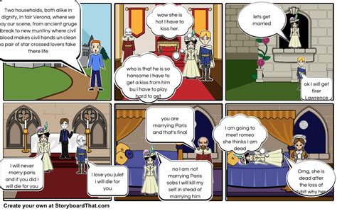 romeo and juliet comic strip Storyboard by carl123456