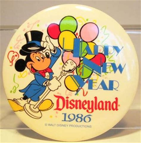 new year 1986 happy new year disneyland 1986 button from our buttons