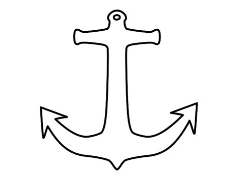 anchor template anchor printable pattern clipart best