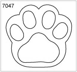 paw print engraving templates