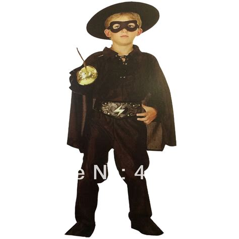 Hh 920592couple Costume Black aliexpress buy free shipping dress up costume baby boy black zorro