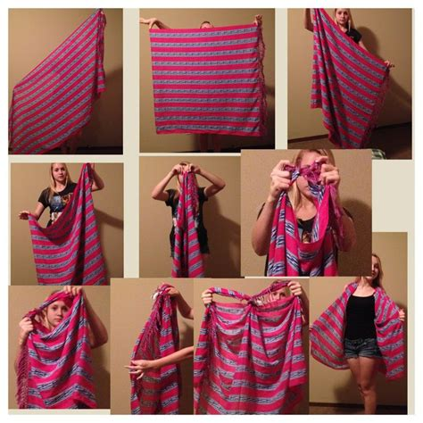 1000 images about folded scarves on tie a