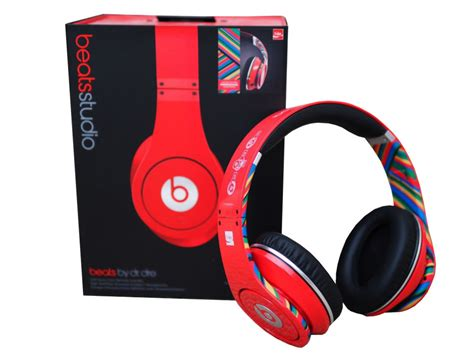 Headset Dr Dre Ori beats by dr dre studio noise cancelling hd coca cola ltd edition headphones with microphone