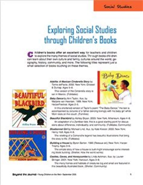 concerning children annotated books social studies and literature on social