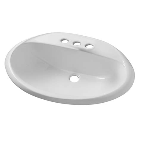 white drop in bathroom sink shop american standard ohio white drop in oval bathroom