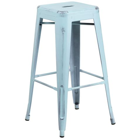 Distressed Blue Bar Stools by Flash Furniture 30 In Green Bar Stool Ch3132030gn The