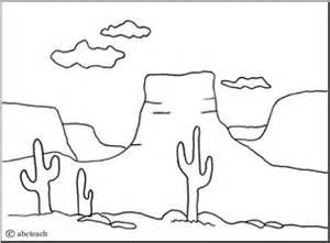 plateau landform coloring page social studies