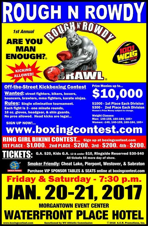 rough n rowdy morgantown event center waterfront place hotel events home