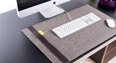 Desk Mat Pad by Felt Desk Pad By Burning Hiconsumption
