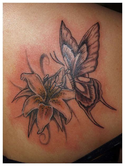 Butterfly Piedew 60 flowers tattoos collection