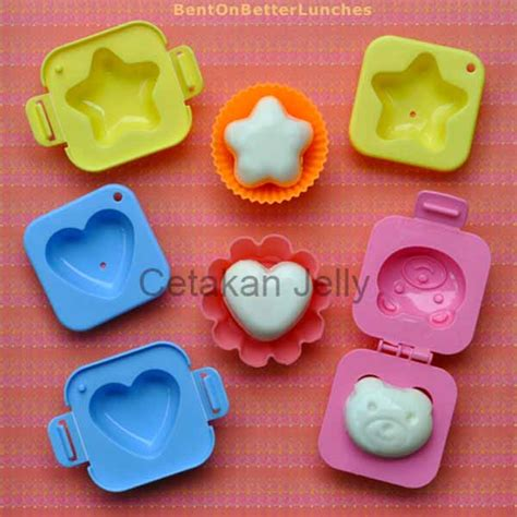Bento Hello Bread Cutter Berkualitas cetakan telur hati bintang cetakan jelly cetakan jelly