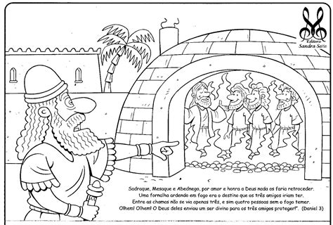 free coloring pages of fiery furnace