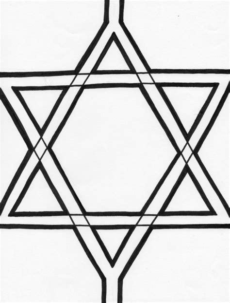 printable jewish star template jewish star clip art cliparts co