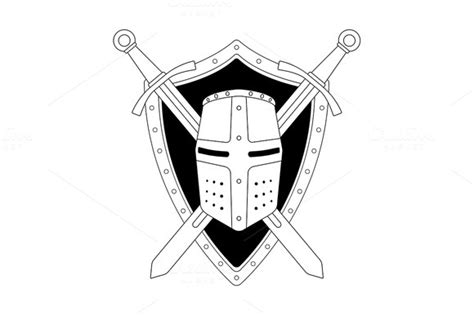 Editable Shield Outline 187 Designtube Creative Design Content Helmet Shield Template