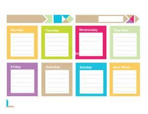 template for weekly planner weekly planner template free printable weekly schedule