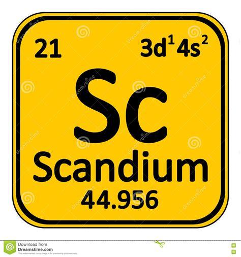 periodic table element scandium icon stock illustration