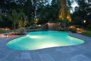 backyard pool backyard swimming pools waterfalls natural landscaping nj
