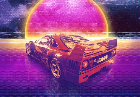 Car Wallpaper Retro by Retro Wave Hd Wallpaper And Background Image