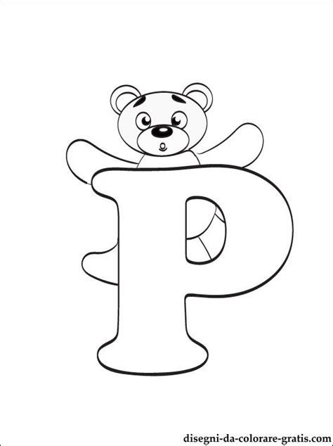 lettere dell alfabeto italiano da stare disegni da colorare lettera p disegni da colorare gratis
