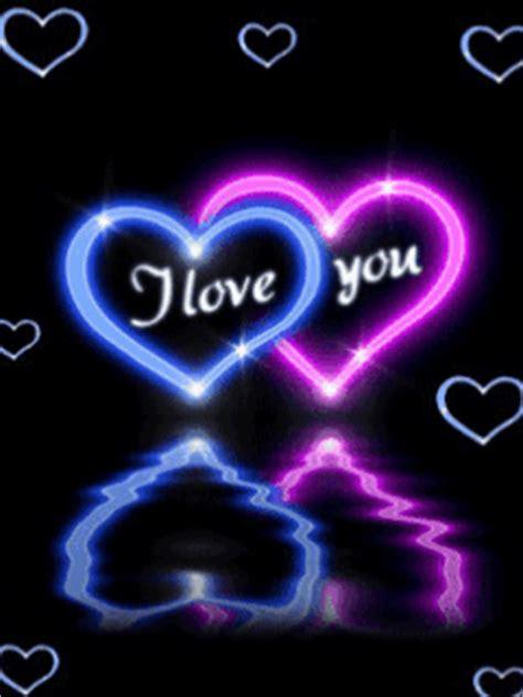 lmagenes de corazones en agua con rosas y aves 5 imagenes de amor con movimiento con frase en ingles