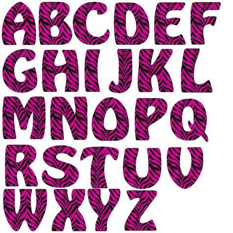 zebra printable alphabet zebra print letters clip art 65