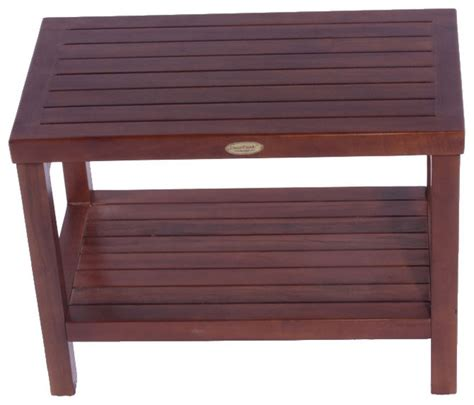 shower bench with shelf 24 quot teak spa shower bench with shelf contemporary