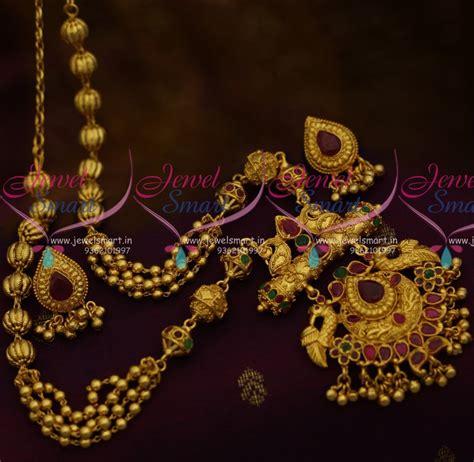 Handmade Gold Jewellery Designs - nl10783 traditional nakshi handmade gundla mala one