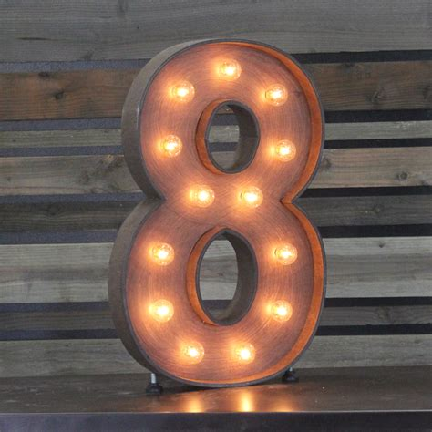 Online Catalog Home Decor by Edison Marquee Number Quot 8 Quot Town Amp Country Event Rentals