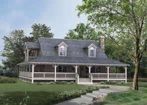 wrap around porch french country home plans with hill designs